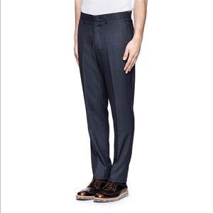 J Crew Bowery 100% Wool Navy Slim Pants